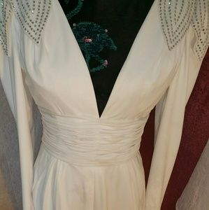White rhinestone dress